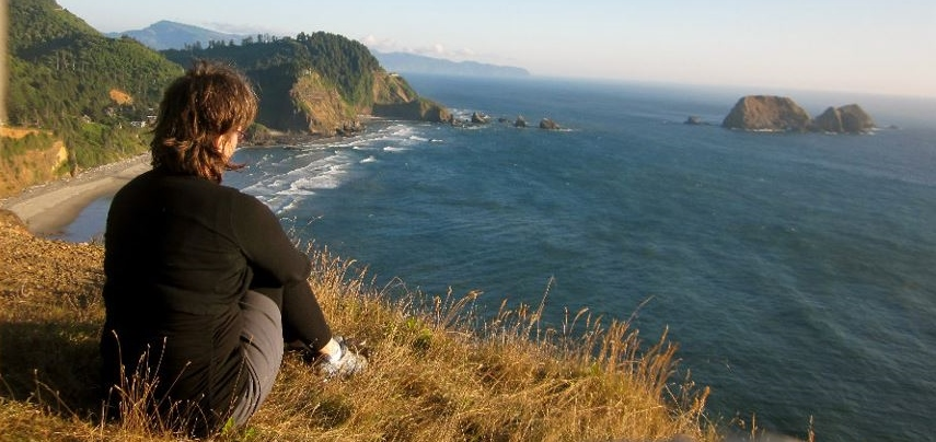 Solitude by the Pacific Ocean.   Photo credit:  Es Bee