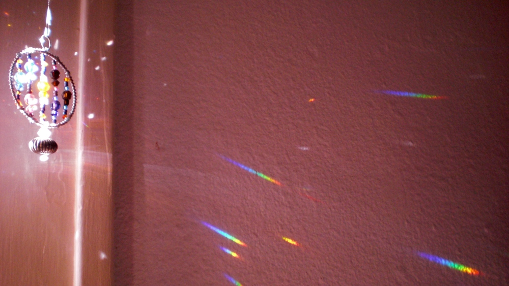 Late afternoon light art greeting me after work.  In my living room.  Albuquerque, New Mexico.  Photo credit:  ka
