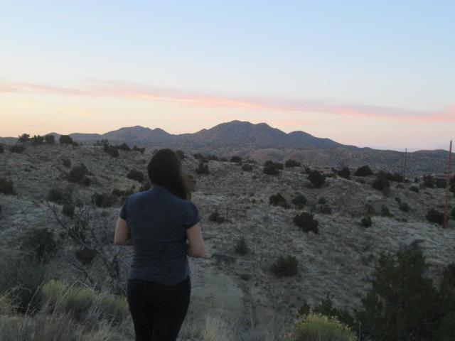 The author near Albuquerque, New Mexico.   Photo credit:  Es Bee
