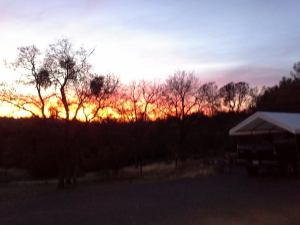 Sunset in Coarsegold, CA, my previous home with my fourth husband.  Photo credit:  Sharon Ballinger